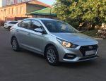Прокат Hyundai Solaris 2018г. серебристого цвета в Москве без водителя