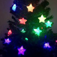Электрическая новогодняя гирлянда Звезды, 5 м (2)