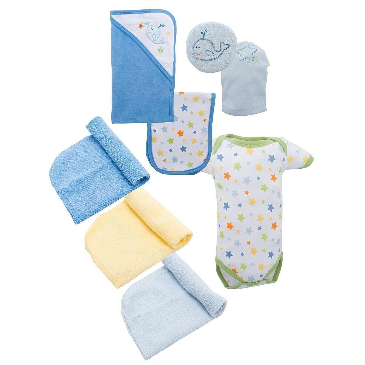 Подарочный набор для новорожденного 9 пр Luvable Friends 07074