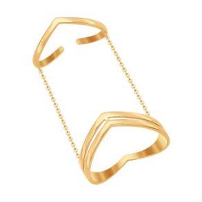 Кольцо на две фаланги из золота 017061 SOKOLOV