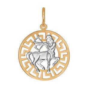 Подвеска «Знак зодиака Стрелец» из золота 031302 SOKOLOV