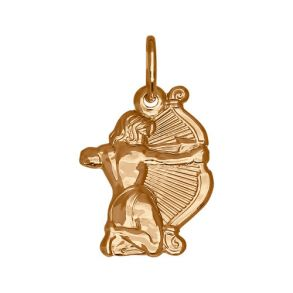 Золотая подвеска «Знак зодиака Стрелец» 034096 SOKOLOV