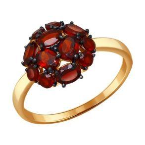 Кольцо из золота с гранатами 714096 SOKOLOV
