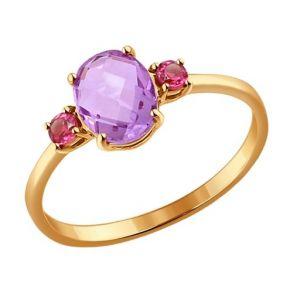 Кольцо из золота с полудрагоценными вставками 714161 SOKOLOV