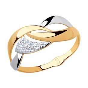 Кольцо из золота с фианитами 018134 SOKOLOV