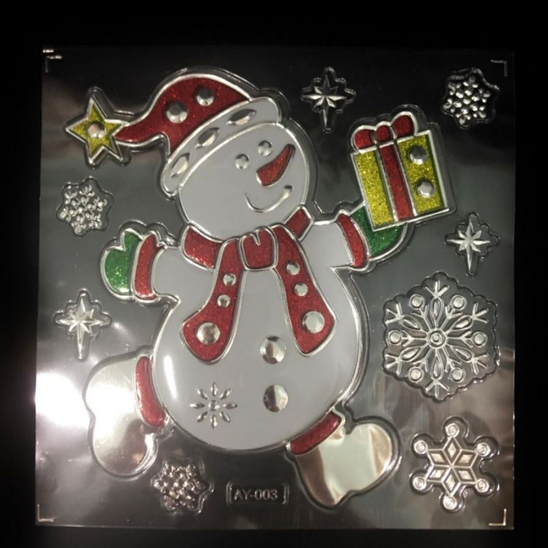 Набор Новогодних Наклеек Room Decor Снеговик, 21х15 См