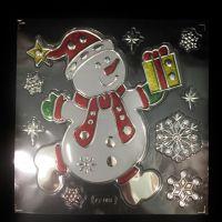 Набор новогодних наклеек Room Decor Снеговик, 21х15 см (1)