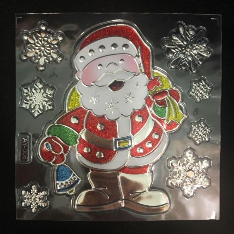 Набор новогодних наклеек Room Decor Дед Мороз, 21х15 см
