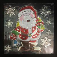 Набор новогодних наклеек Room Decor Дед Мороз, 21х15 см (1)