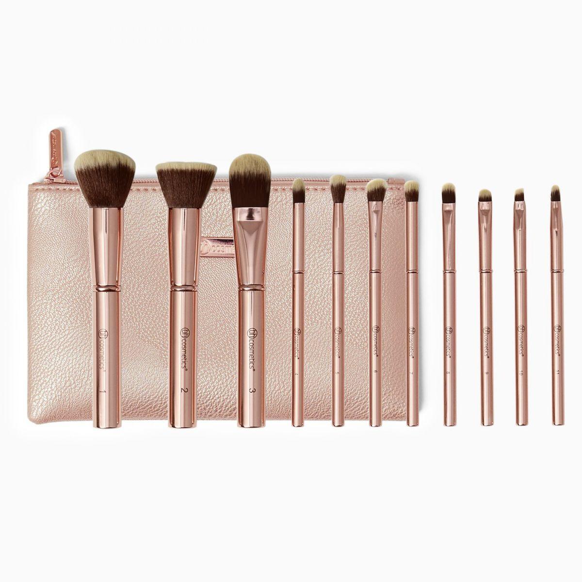 Набор кистей для макияжа BH COSMETICS - METAL ROSE
