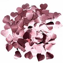 Конфетти фольга, Сердца, Розовое золото, 50 гр