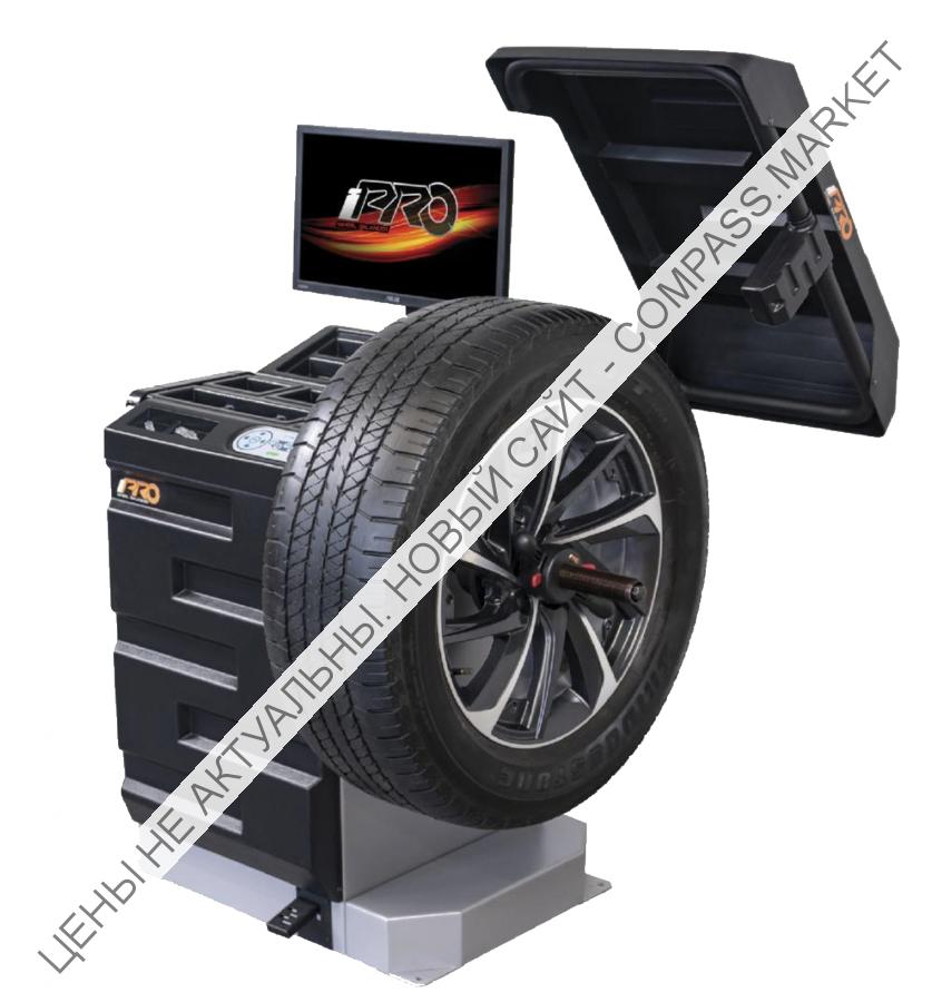 Балансировочный стенд с бесконтактным определением размеров колеса