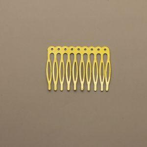 `Гребень для волос, металл, размер 68*41, цвет: белое золото