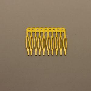 `Гребень для волос, металл, размер 68*41, цвет: золото