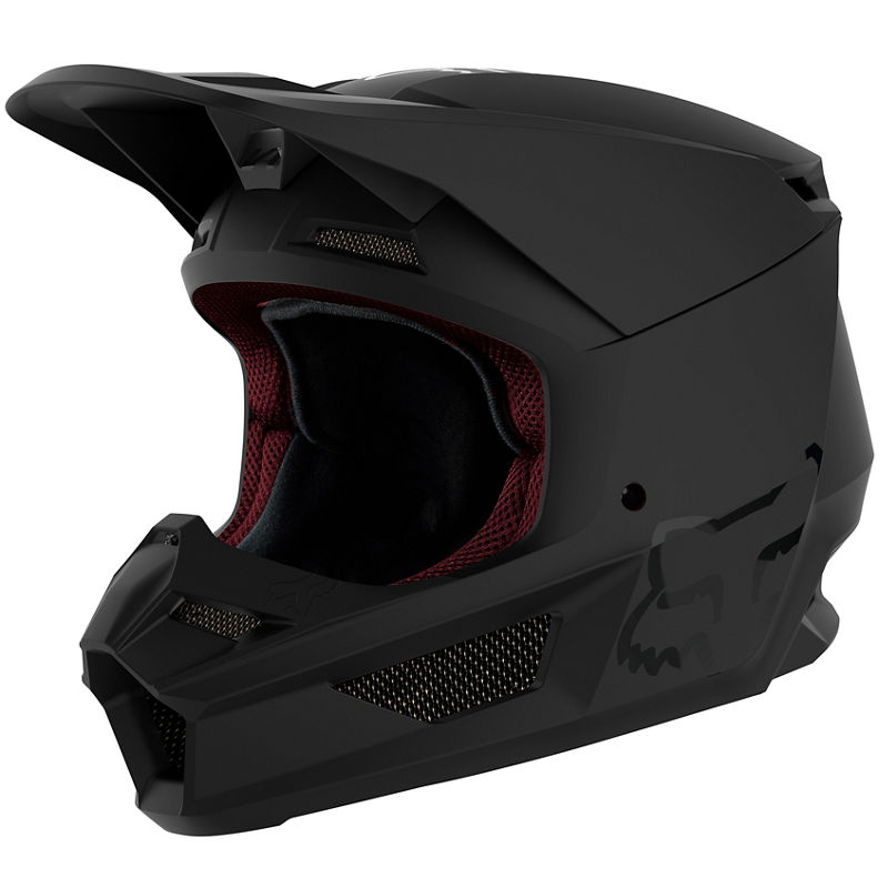 Fox - 2020 V1 Matte Black шлем, черный матовый