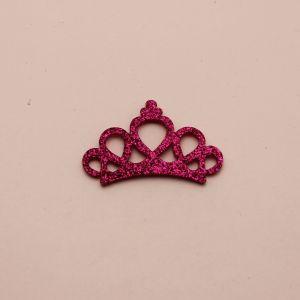 """Патч """"Корона с блестками"""", 46*31 мм, цвет  фиолетовый (1уп = 25шт)"""