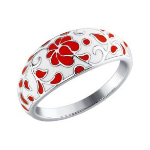 Серебряное кольцо с эмалью 94011113 SOKOLOV