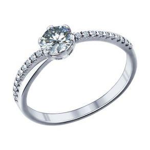 Помолвочное кольцо из серебра с фианитами 89010002 SOKOLOV
