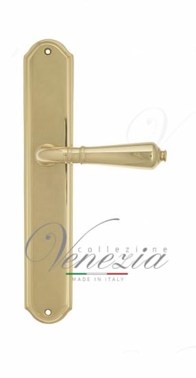 Дверная ручка Venezia VIGNOLE на планке PL02 полированная латунь