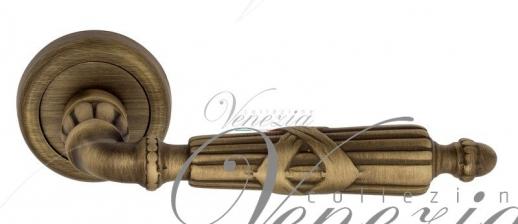 Дверная ручка Venezia ANNETA D1 матовая бронза