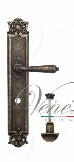 "Дверная ручка Venezia ""VIGNOLE"" WC-2 на планке PL97 античная бронза"