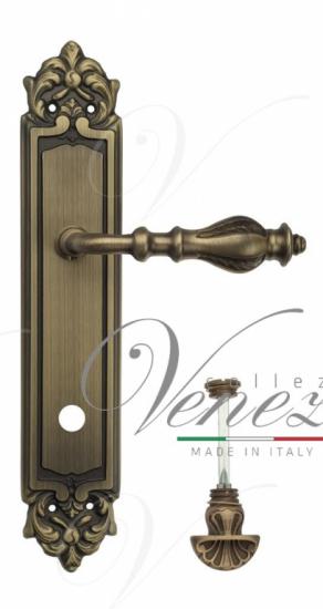 "Дверная ручка Venezia ""GIFESTION"" WC-4 на планке PL96 матовая бронза"