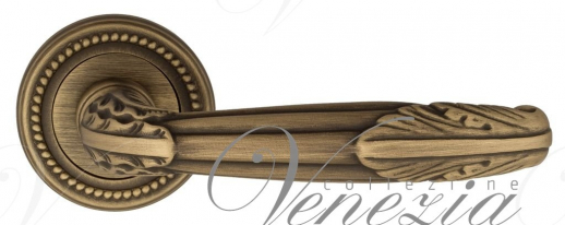 """Дверная ручка Venezia """"ANGELINA"""" D3 матовая бронза"""