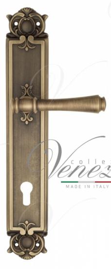 """Дверная ручка Venezia """"CALLISTO"""" CYL на планке PL97 матовая бронза"""