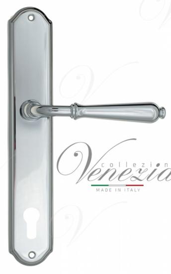 """Дверная ручка Venezia """"CLASSIC"""" CYL на планке PL02 полированный хром"""