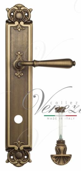 "Дверная ручка Venezia ""CLASSIC"" WC-4 на планке PL97 матовая бронза"