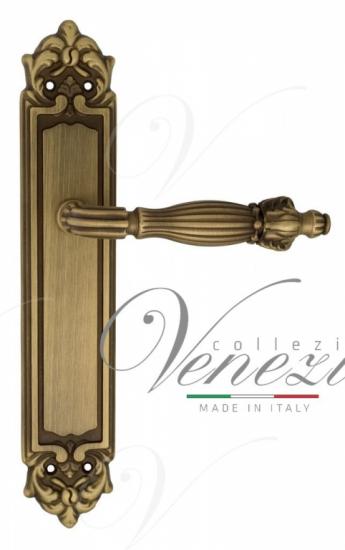 """Дверная ручка Venezia """"OLIMPO"""" на планке PL96 матовая бронза"""