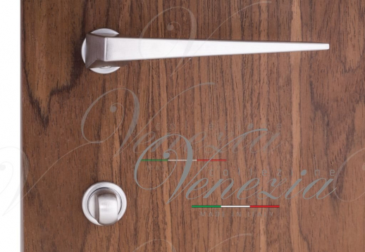 "Дверная ручка Venezia Unique ""PHILIP"" (серия SLIM) матовый хром"