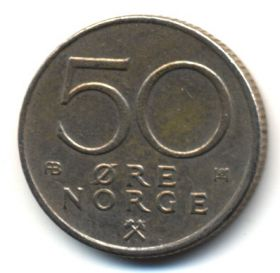 Норвегия 50 эре 1976 АВ