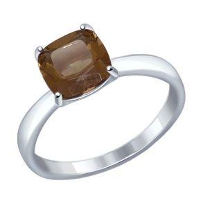 Кольцо из серебра с раухтопазом 92011256 SOKOLOV