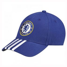 Бейсболка adidas Chelsea Football Club 3 Stripes Cap синяя
