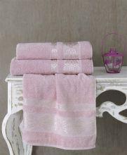 Полотенце махровое REBEKA 100*150 (гр.розовое) Арт.3280-4