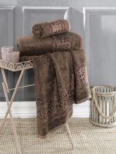 Полотенце бамбуковое ARMOND 90*150(коричневое) Арт.3309-10