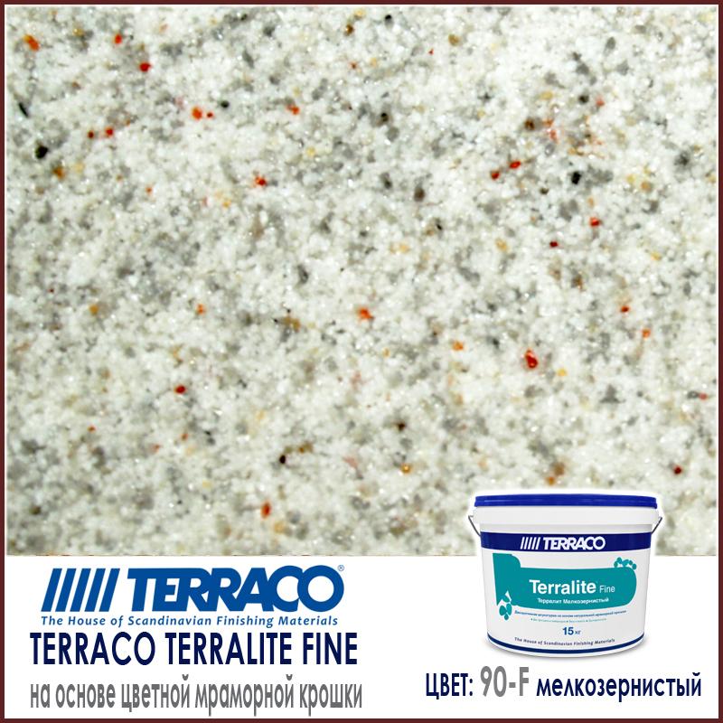 Terralite fine (мелкозернистый) цвет 90-F