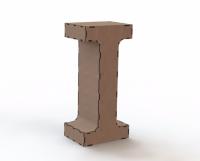 Объемная буква I