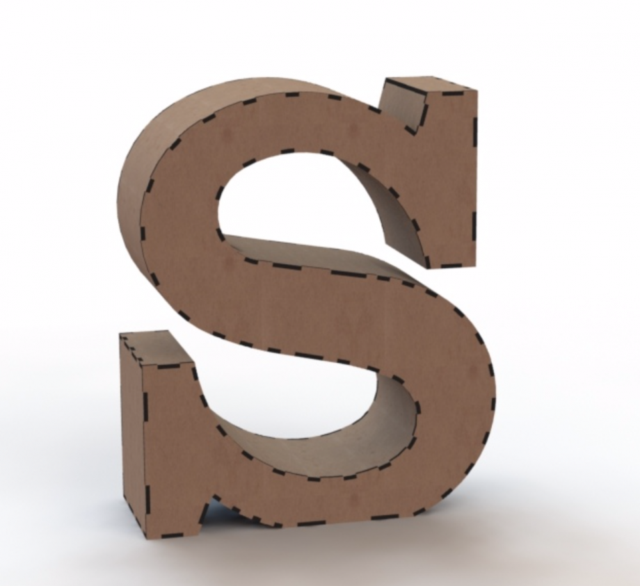 Объемная буква S