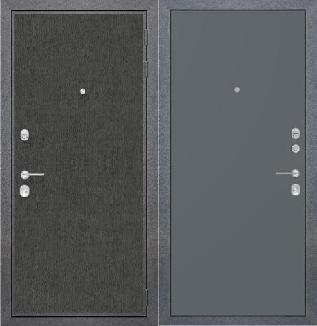 """Входная дверь ZMD """"Лофт графит Гладкая титан"""""""