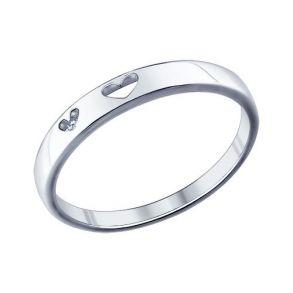 Помолвочное кольцо из серебра с фианитом 94011294 SOKOLOV