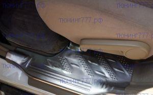 Накладки на пороги, cnt4x4, на пластик, сталь