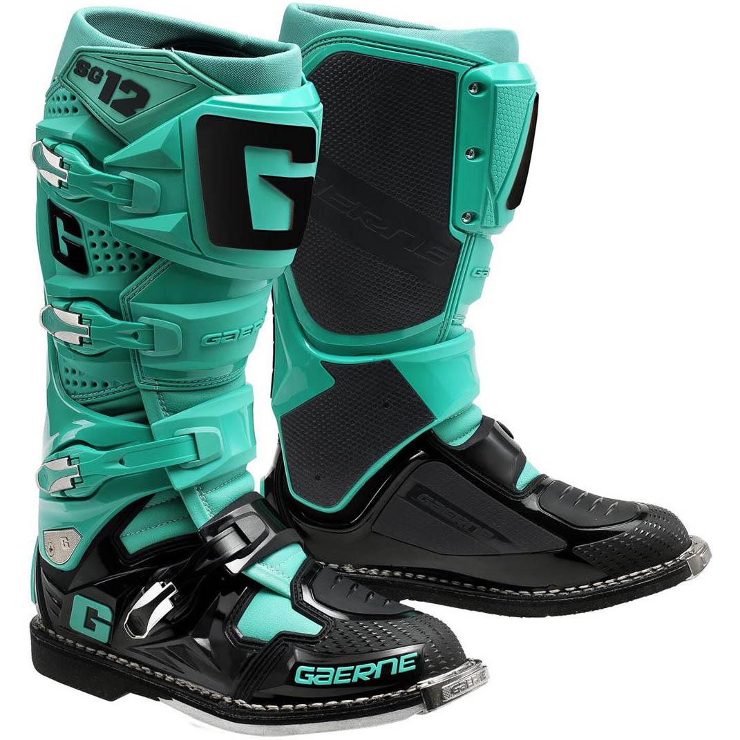 Gaerne - SG-12 Black/Aqua Special Edition мотоботы, черно-зеленые