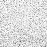 Шарики пенопласт, белые, мелкие, D 2-3 мм, 10 гр