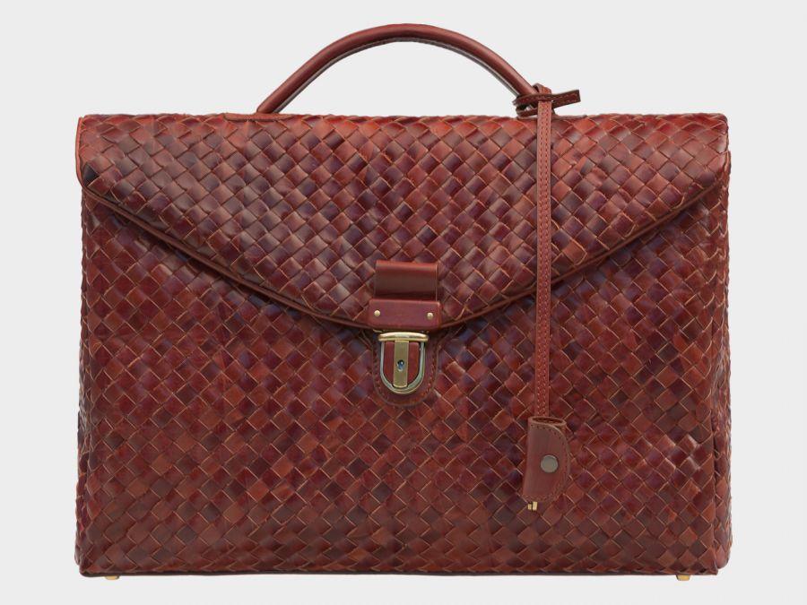 Портфель из натуральной кожи Alexander-TS «PF0017 Cognac»