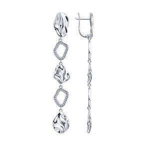 Серьги из серебра с фианитами 94023835 SOKOLOV