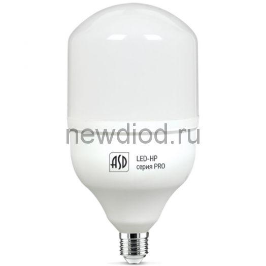 Лампа светодиодная LED-HP-PRO 40Вт 230В Е27 с адаптером E40 6500К 3600лм ASD