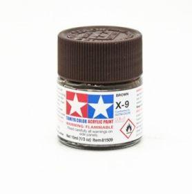 Х-9 Brown (Коричневая) краска акрил. 10мл.