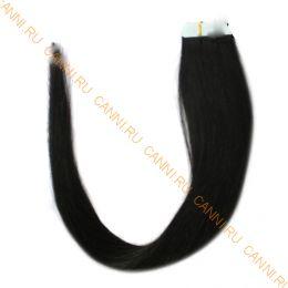 Натуральные волосы на липучках №001В (50 см)